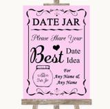 Pink Date Jar Guestbook Customised Wedding Sign