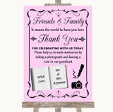 Pink Photo Guestbook Friends & Family Customised Wedding Sign