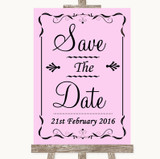 Pink Save The Date Customised Wedding Sign
