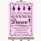 Pink Toiletries Comfort Basket Customised Wedding Sign