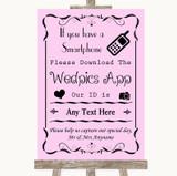 Pink Wedpics App Photos Customised Wedding Sign