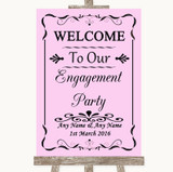 Pink Welcome To Our Engagement Party Customised Wedding Sign