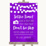 Purple Watercolour Lights Selfie Photo Prop Customised Wedding Sign
