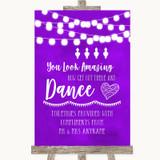 Purple Watercolour Lights Toiletries Comfort Basket Customised Wedding Sign
