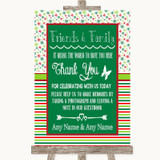Red & Green Winter Photo Guestbook Friends & Family Customised Wedding Sign
