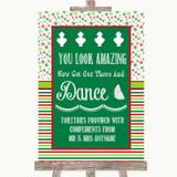 Red & Green Winter Toiletries Comfort Basket Customised Wedding Sign