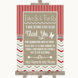 Red & Grey Winter Photo Guestbook Friends & Family Customised Wedding Sign
