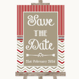 Red & Grey Winter Save The Date Customised Wedding Sign