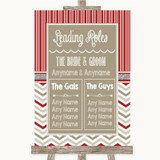 Red & Grey Winter Who's Who Leading Roles Customised Wedding Sign