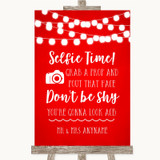 Red Watercolour Lights Selfie Photo Prop Customised Wedding Sign