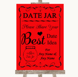 Red Date Jar Guestbook Customised Wedding Sign