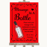 Red Message In A Bottle Customised Wedding Sign