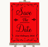 Red Save The Date Customised Wedding Sign