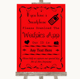 Red Wedpics App Photos Customised Wedding Sign