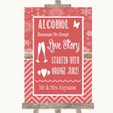 Red Winter Alcohol Bar Love Story Customised Wedding Sign