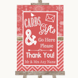 Red Winter Cards & Gifts Table Customised Wedding Sign
