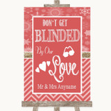 Red Winter Don't Be Blinded Sunglasses Customised Wedding Sign