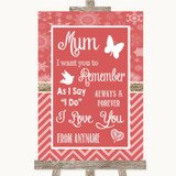 Red Winter I Love You Message For Mum Customised Wedding Sign