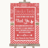 Red Winter Photo Guestbook Friends & Family Customised Wedding Sign