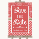 Red Winter Save The Date Customised Wedding Sign
