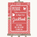 Red Winter Take A Moment To Sign Our Guest Book Customised Wedding Sign