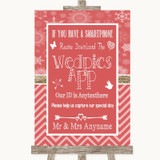 Red Winter Wedpics App Photos Customised Wedding Sign