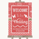 Red Winter Welcome To Our Wedding Customised Wedding Sign