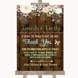 Rustic Floral Wood Photo Guestbook Friends & Family Customised Wedding Sign