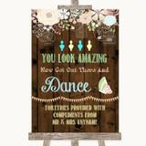 Rustic Floral Wood Toiletries Comfort Basket Customised Wedding Sign