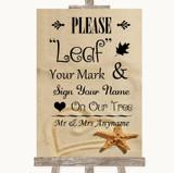 Sandy Beach Fingerprint Tree Instructions Customised Wedding Sign
