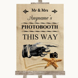 Sandy Beach Photobooth This Way Right Customised Wedding Sign