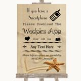 Sandy Beach Wedpics App Photos Customised Wedding Sign