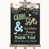 Shabby Chic Chalk Cards & Gifts Table Customised Wedding Sign