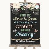 Shabby Chic Chalk Confetti Customised Wedding Sign