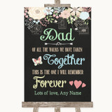 Shabby Chic Chalk Dad Walk Down The Aisle Customised Wedding Sign