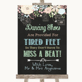 Shabby Chic Chalk Dancing Shoes Flip-Flop Tired Feet Customised Wedding Sign