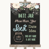 Shabby Chic Chalk Date Jar Guestbook Customised Wedding Sign