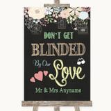 Shabby Chic Chalk Don't Be Blinded Sunglasses Customised Wedding Sign