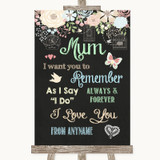 Shabby Chic Chalk I Love You Message For Mum Customised Wedding Sign