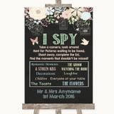 Shabby Chic Chalk I Spy Disposable Camera Customised Wedding Sign