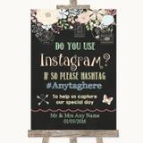 Shabby Chic Chalk Instagram Photo Sharing Customised Wedding Sign