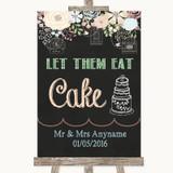 Shabby Chic Chalk Let Them Eat Cake Customised Wedding Sign