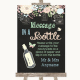 Shabby Chic Chalk Message In A Bottle Customised Wedding Sign