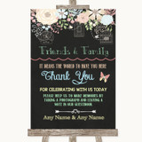 Shabby Chic Chalk Photo Guestbook Friends & Family Customised Wedding Sign
