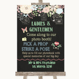 Shabby Chic Chalk Pick A Prop Customised Wedding Sign