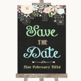 Shabby Chic Chalk Save The Date Customised Wedding Sign