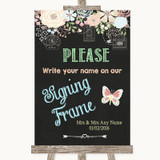 Shabby Chic Chalk Signing Frame Guestbook Customised Wedding Sign