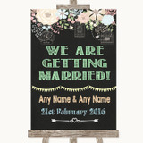 Shabby Chic Chalk We Are Getting Married Customised Wedding Sign