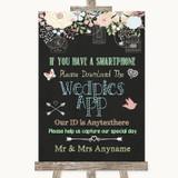 Shabby Chic Chalk Wedpics App Photos Customised Wedding Sign