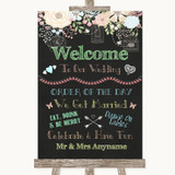 Shabby Chic Chalk Welcome Order Of The Day Customised Wedding Sign